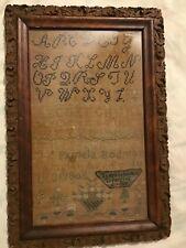 New listing Antique Sampler 1806 Framed
