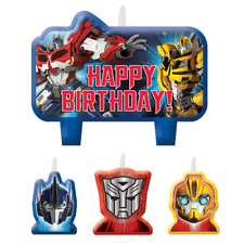 Transformers Birthday Molded Candles 4 Piece Cake Party Supplies DELIVERY