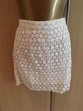 BNWT Lovely H & M Cream embroidery design mini skirt size 10-£19.99
