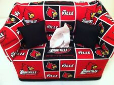 NCAA University of Louisville Cardinals Tissue Box Cover Handmade