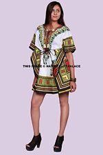Women's African Dashiki Shirt Kaftan Boho Hippe Gypsy Festival Tops Party Dress
