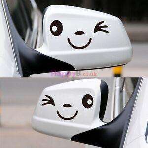 Mirror Faces funny car van, bumper, windows, lorry JDM vinyl decal sticker