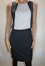 next Brand Ladies Navy White Polka Dot Sheath Dress Size 10 BNWT #SN48