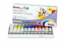 Pentel Arts Water Colors, Assorted, 5ml Tubes, 12 Color Set Wfrs-12