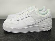 Nuevo Para Mujer Nike Air Force 1 bajas 'Sombra' tamaño del zapato 12 Triple Blanco CI0919-100