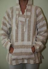 Mexican Baja Hoodie Surf Pullover Jacket Brown Theme Unisex Size XXXL Drug Rug