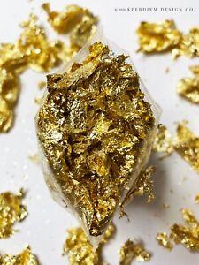 10 Grams Gold Leaf Flake - Huge Beautiful Flakes for Art, Gilding, & more!