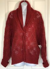 FREE PEOPLE Cowl Neck Artistically Woven Cardigan Sweater L