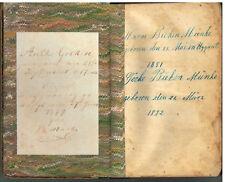 Daily Handbook in Good & Wicked Days Mid 1800's In German Johann Stark Book! $