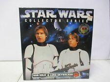 1996 Star Wars Collector Series Han Solo and Luke Skywalker in Stormtrooper Gear