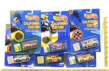 6 Hot Wheels 1989 California Custom Chevrolet '57 Chevy Corvette Vette Camaro