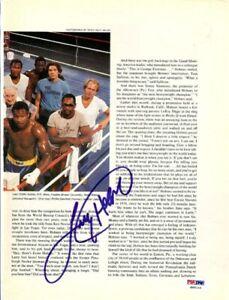 Larry Holmes Authentic Autographed Signed Magazine Page Photo PSA/DNA COA S49153