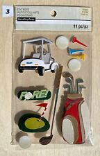 (1) package of scrapbooking stickers - New - Golf