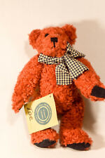 Boyds Bears: Toe - 8 inch Plush - Red Bear - Black and White Bow - Rare