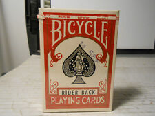 Bicycle Rider Back 808 Playing Cards Deck Tax Stamp Air Cushion SEALED NEW RED