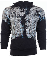 Xtreme Couture AFFLICTION Mens Hoodie Sweatshirt Jacket DOUBLE UP Biker $78