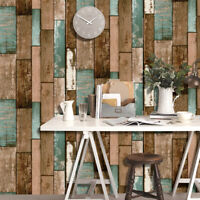 6m 3D Rustic Wood Plank Wallpaper Self Adhesive Furniture Film Wall Stickers