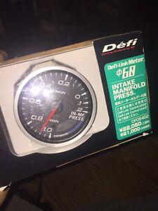 NEW 60mm DEFI LINK METER INTAKE MANIFOLD PRESSURE GAUGE DF05402 DC2 EK9 DC5 EP3