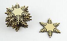 Set di 12x Natale in Legno Fiocco Di Neve Ornamenti / Craft Forma / Decorazione