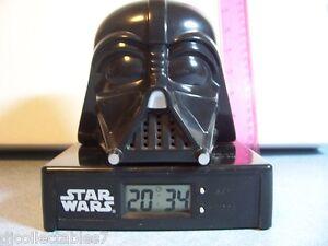 Star Wars Darth Vader AM/FM Alarm Clock Radio 1995 Works GREAT