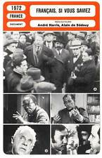 FICHE CINEMA : FRANCAIS SI VOUS SAVIEZ - Harris 1972 Frenchmen, If You Only Knew