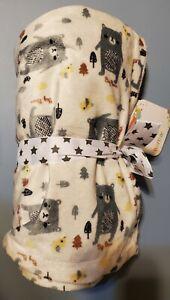 "Boritar Super Soft Baby Blanket Throw with Minky Raised Dotted Grey Bear 30""x40"""