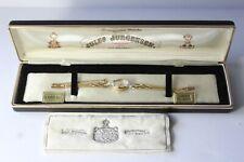 Vintage 14K Gold & Diamond Jules Jurgensen Ladies Wrist Watch in Case NOS