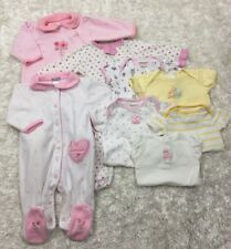 Baby Girl 0-3, 3-6, 6-9 months mixed brands LOT of 8 pieces Sleepers, t-shirts