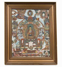 Tibet 20. JH. thangka-a tibetan thang-ka depicting Bouddha-tibetano tibétain