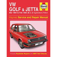 VW Golf Jetta MK2 1.0 1.3 1.6 1.8 Petrol 1984-92 (A to J Reg) Haynes Manual