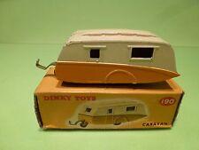 DINKY TOYS 190 CARAVAN WOHNWAGEN - YELLOW/ORANGE + CREAM - EXCELLENT IN BOX