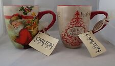 Lot of 2 - Holiday large Coffee Cup Schurman Retail / Carlton Cards
