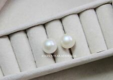 ANGEL'S TEAR AA EXTRA LARGE 8-9 MM FRESHWATER PEARL EARRING STUD