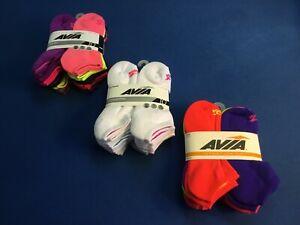 Women's AVIA Active Comfort socks 10 ct, no show or low cut colors, You choose!