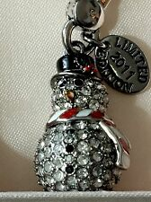 NWT Juicy Couture PAVE Silver SNOWMAN CHARM LTD ED 2011 $62 Crystals TAGGED BOX