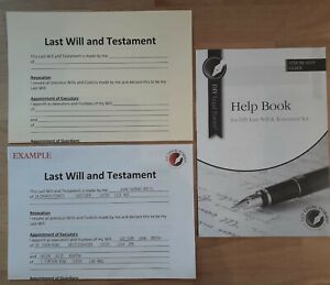 THE VERY SIMPLE, LAST WILL and TESTAMENT KIT, 2021 Edition, UK Legally valid.