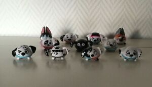 Mattel Disney Channel 101 Dalmatian Street toys bouncy balls - Set of 11/12