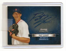 2012 BOWMAN STERLING PAT LIGHT PROSPECT AUTOGRAPH (SEATTLE MARINERS) RED SOX