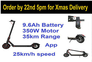 Electric scooter M365 Clone 350w 9.6Ah battery powerful e-scooter 35km 25km/h UK