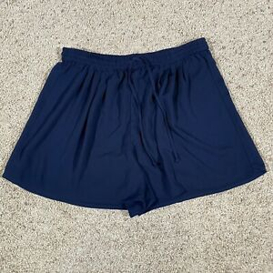 J Crew Mercantile Womens Gingham navy Pull On High Waisted Guingan Shorts Size M