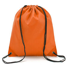 Travel Drawstring Backpack Cinch Rucksack Sport PE Schoolbag Waterproof Tote Bag