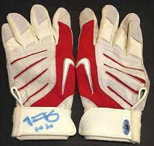 JACOBY ELLSBURY GAME USED AUTOGRAPHED SIGNED 2008 BATTING GLOVES BOSTON RED SOX