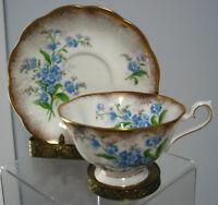 Vintage Royal Albert Cup & Saucer Forget Me Not ,England Bone China
