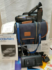 Sony Handy Cam Ccd-fx411 With Remote,Batteries,Charger,Case,& More! Powers On!!