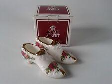 Royal Albert Old Country Rose CERAMIC SLIPPER x 2 Boxed