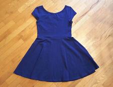 Topshop Womens Dress Skater Flippy Scoop Neckline Cap Sleeve Blue Size 10
