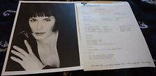 Michelle Forbes Vintage Headshot and Acting Resume Early 90's SUPER RARE!