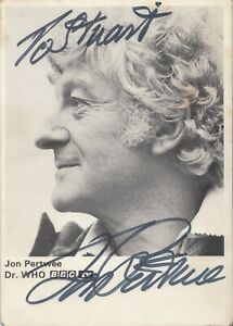Jon Pertwee Signed The 3rd Dr BBC Official Doctor Who Autograph Cast Card
