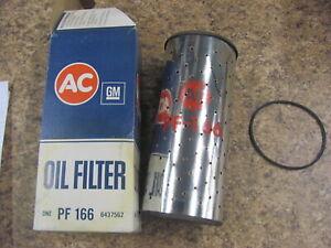 NOS AC PF-166 Oil Filter Element 67 68 69 70 71 72 Chevy GMC HD Oil 2 qt 6437562
