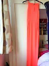 DESIGNER ASOS BRIGHT PINK SPLIT 90s MAXI DRESS PETITE BRAND NEW SIZE 6UK